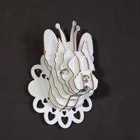 деревянная собака, деревянный Принц БАТЭ для декора стены, деревянная голова животного для домашнего декора, элемент новизны, деревянных ремесел, собака ремесла для комнаты малыша