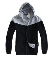 Мужская толстовка 2012 -13 F/ W! Top Quality! Men's Hooded Collar CONTRAST COLOR Hoody / Men's Fashion Overcoat -T610