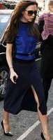 Женское платье Hot Sale! 2014 Spring And Summer Victoria Beckhams Stars Velvet Knitted Dress +Belt Two- Piece Set