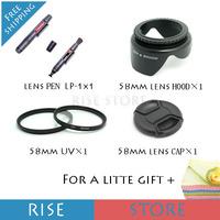 Потребительская электроника 4 1 58 SLR 58 + + 58 + 58 58MM UV+LENS CAP+LENS HOOD+LENSPEN