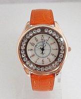 Наручные часы 10 colors Gogoey Brand Watch Women Red Leather dress quartz wrist watch ladies shinning Crystal high fashion go004-3