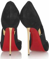 Туфли на высоком каблуке Metal Stiletto Heel Cross Shoes Peep Toe Pointed Heels Woman Party Shoes Black Heel Shoes