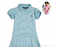 Платье для девочек POLO new short sleeve dres baby girls dress