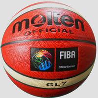 Товары для занятий баскетболом Molten Basketball GL7, PU Material, 630g, 12pcs/lot