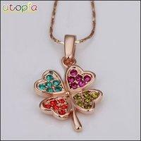 Ювелирный набор Christmas Gift 18K Real Gold plated Flower Jewelry Set With Colorful Rhinestone Nickel #LK15S