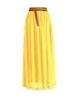 Женская юбка Women's Chiffon Pleated Retro Long Maxi Dress Elastic Waist 8 colors 90cm