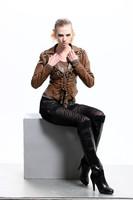 Женская одежда из кожи и замши New south Korean version of the scene order bead set auger high-grade leather