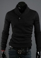 Мужской кардиган 2012 The pure color cultivate one's morality men sweater line unlined upper garment joker set of head sweater