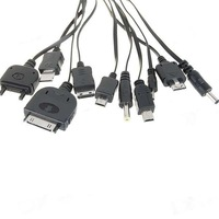 free shipping 10 in 1 USB Mobile Cell Cable Charger for Nokia Samsung LG
