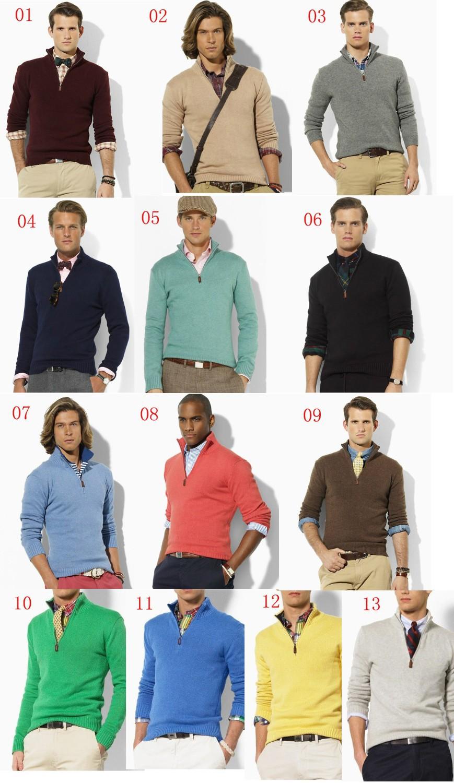 2019 Wholesale New Arrival Cardigan V Neck Sweater Men Cotton
