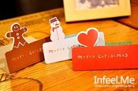 мин заказ $ 10 элегантных Рождественские поздравительные открытки творческих небольшой сложенный поздравительной открытки Рождественские открытки / открытки