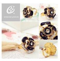 Кольцо Neoglory Auden Rhinestone14K Gold Plated Flower Cute Jewelry Fashion Wedding Ring