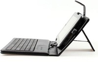 "wholesale 10"" keyboard case Leather case with usb keyboard bracket for apad ipad ebook mid Tablet PC &Free Shipping"