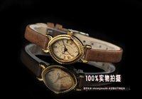 Наручные часы julius popular brand Japan movement eye shape Roman numerals brown leather lady watch; Factory Outlet; JA-567brown