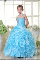 Детское платье Halter Beaded Flower Girls Dresses Ball Gown Custom Made Different Style 4
