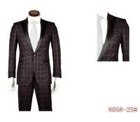 2013 new hot selling brand suit ,men  classic grid suits ,men casual suit ,business suit for office