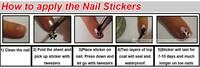 Наклейки для ногтей 10sets/lot Newest Popular ECO-friendly Tasteless Water Transfer Nail Art Sticker Decals