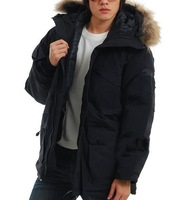 Мужской пуховик Top Quality Men's Goose Jacket Expedition Parka Outerwear Windproof Jacket Hoodie Down Jackets SZ: XS S M L XL XXL