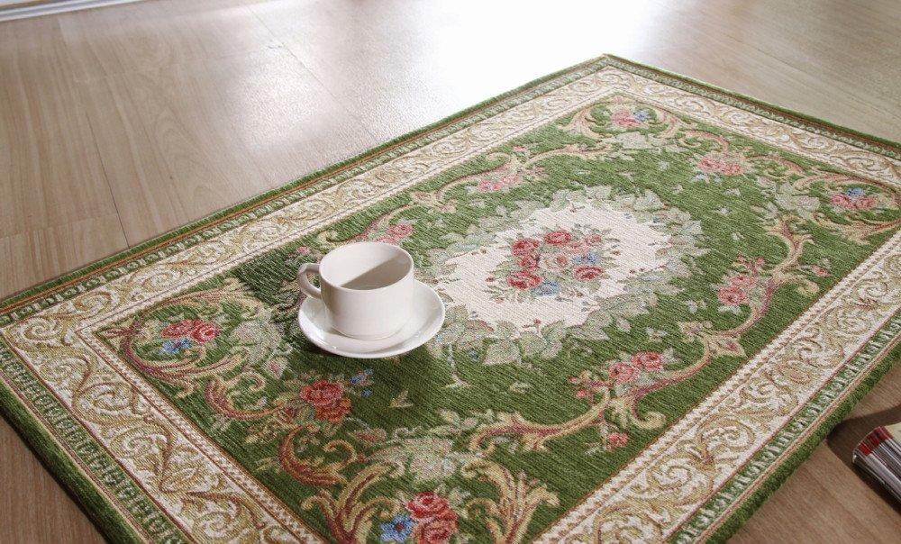 B 059 groene 60x90cm tapijt klassiek europees land stijl chique bloemen vloermat tapijt gratis - Stijl land keuken chique ...