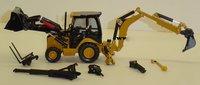1:50 420E Center Pivot Backhoe Loader w/Work Tools toy