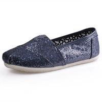 Классический женский блестками туфли, железа серый цвет