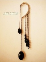 Оригинальные серьги 2013 Personalized long tassels drop earrings for women, fashion rhinestone drop earring