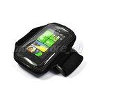 Ремень с карманом под телефон на руку Sport Armband case for HTC HD3 black