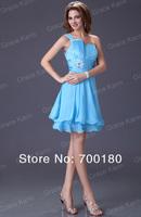 Коктейльное платье 1pc/lot J&K Formal Cocktail Party Prom One Shoulder Women Sexy Dresses New Fashion CL1004