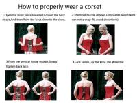 Корсет Waist training corset Drop Underbust Corpetes e Espartilhos 4478 LB4478