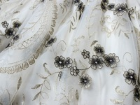 Женское платье 2013 New Vintage Summer -Autumn Party 65% Cotton mini Embroidery Dress White #034