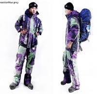 Men's military apparel sports clothing ski suit set Windproof waterproof thermal Men winter trousers sports suit snowboard pants