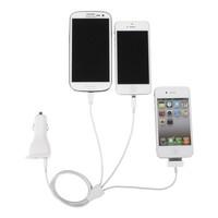 Инвертирующий усилитель мощности Phone charging kit including Dual USB Mini Car Charger 5V 2.1A + 1A and 3 in 1 cable 80cm for iphone/Samsung/IPad