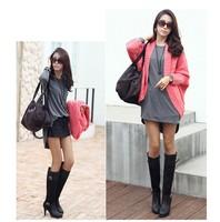 Женское платье 2013 new style Corea women's large size fashion elegant one-piece dress basic shirt#W035