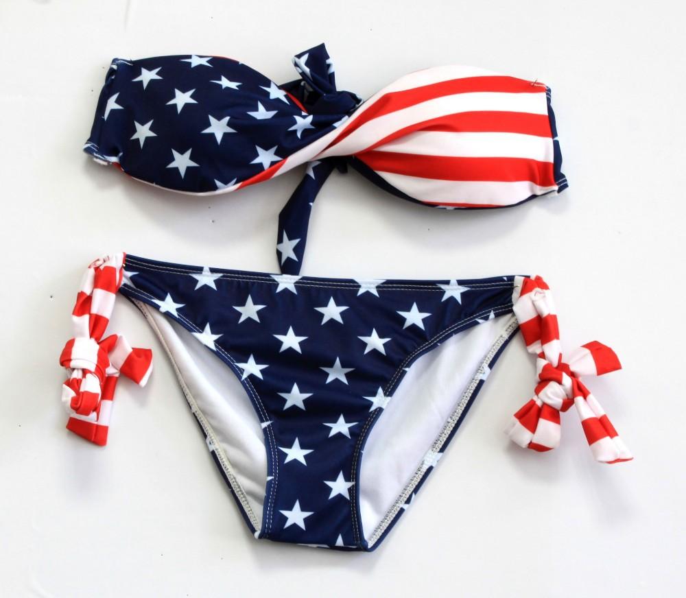 Купальник С Американским Флагом