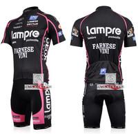команды Lampre 2010 велоспорта Джерси Шорты короткие брюки велосипед велосипедов Верховая езда одежда набор