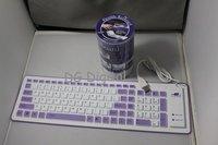 Компьютерная клавиатура 5pcs/lot Folding portable flexible soft Keyboard dustproof waterproof water Resistant 103 keys great response
