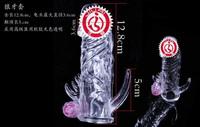wholesale 3*12.5cm silicone vibrating penis sleeve dildos enlarger enhancer stimulator massager sex toy for men adult toy b247