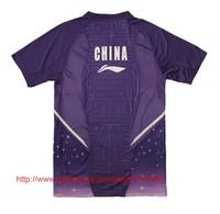 Мужская футболка Badminton CHINA OPEN 2013 LI-NING Jersey Men With Sponsors / CHEN LONG Jersey / Badminton Shirt / LINING Clothes