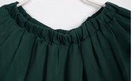 Женская юбка 2012 Hot Selling Dovetail Skirt Womens Asymmetrical Hem Skirt Chiffon Irregular Pleated Long Maxi Dance Skirts