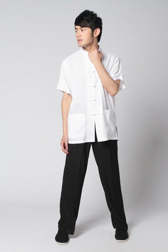 white shirt with black pants - Pi Pants