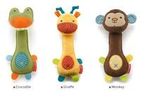 Детская погремушка 6Pcs Shake Baby Rattles Crocodile Giraffe Monkey Kids Baby Toy