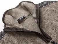 Мужской пуловер fall 2012 Mens Long sleeve Stand collar sweater, men's Knit shirts, Thicken sweater coat