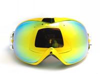 Ницца лицом яркий лак, покрытие Хром металлический каркас лыжный сноуборд очки двойной линзы лыжах очки миопия nf266