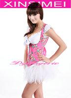 Женское термо-белье And Retail Pink Underbust Corset with white Pettiskirt