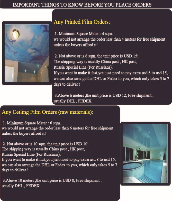6090 metalic stretch ceiling film and pvc stretch ceiling film