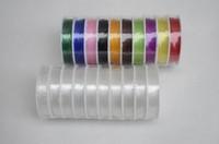 Проволоки, Ленты для браслетов Beading string 0.6/0.7/0.8mm 10metres/roll White Crystal Elastic string Beading Wire thread