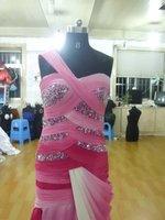 Платье на выпускной Custom-Made Sheath One-Shoulder Floor-Length Chiffon Graduation Dresses with Beadings/Evening Dresses