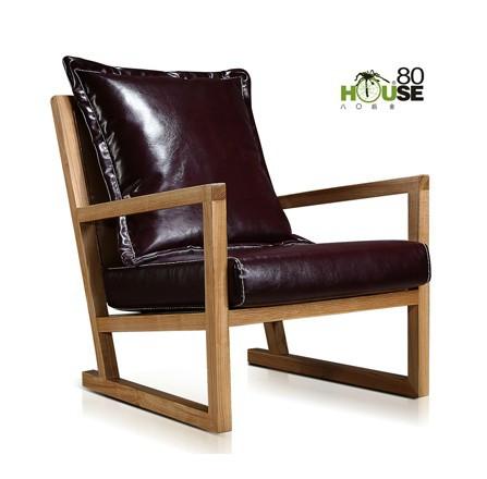 견고한 목재 예술 세련된 레크리에이션 의자 거실 발코니 ...