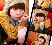 Женский берет Hot Sale! Fashion Winter Warm Women Lady's Beret Braided Baggy Beanie Crochet Hat Ski Cap 7 Colors 8230
