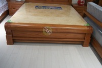 Chinese oak, Chinese solid wood bed double bed special section